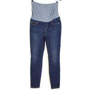 Gap Dark Wash True Skinny Stretch Maternity Jeans